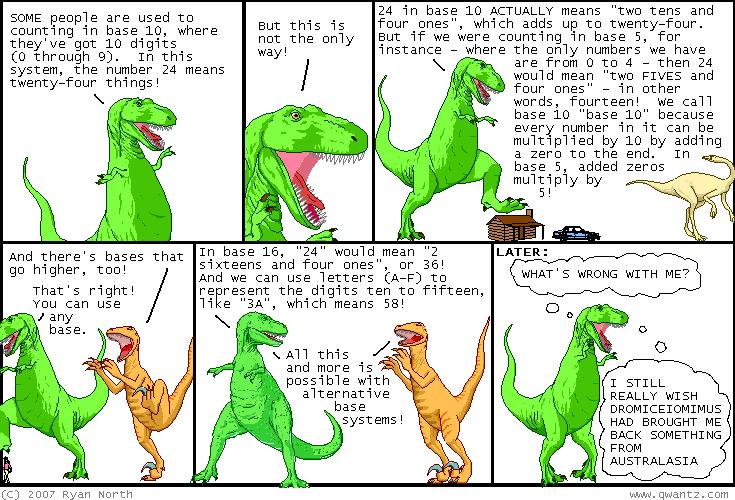 Dinosaur comics garbling it exquisitely