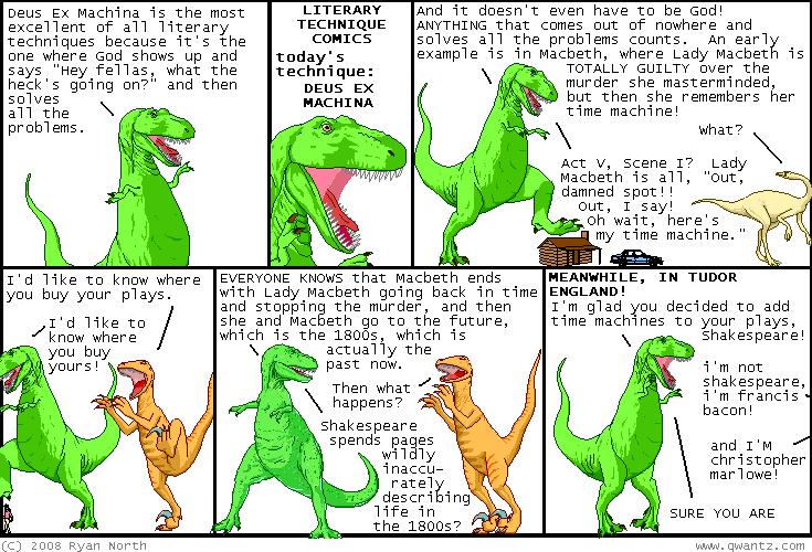 deus ex machina example in literature