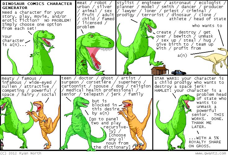 Dinosaur Comics Source Image
