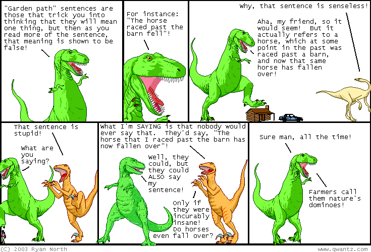 Dinosaur Comics, November 25th 2003