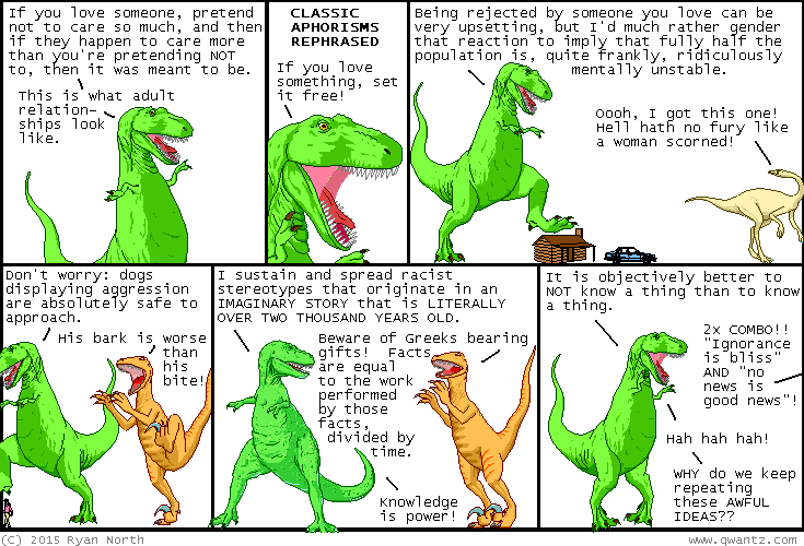 Dinosaur Comics March 23rd 2015 awesome fun times