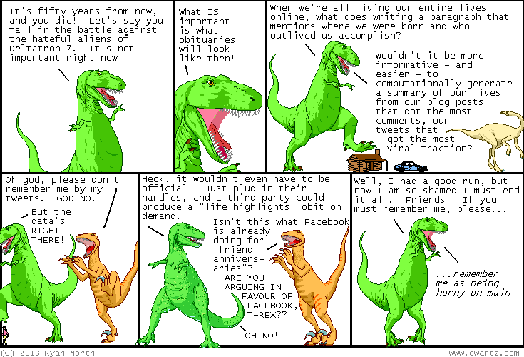 here s some more futurism from your #1 futurism source: a comic about talking dinosaurs
