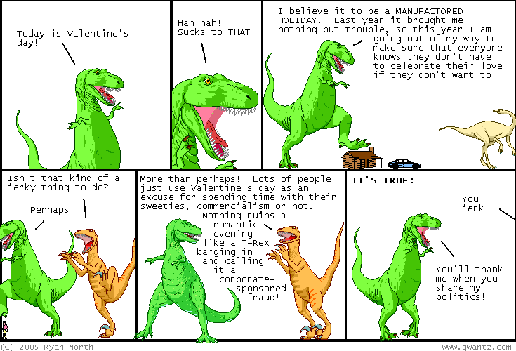 Dinosaur comics february 14th 2005 awesome fun times recommend voltagebd Choice Image