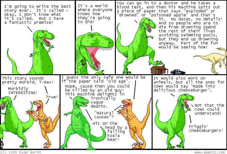 dinosaur comics december 5th 2005 awesome fun times