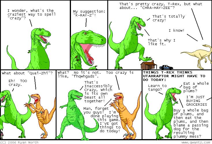 A Dinosaur Comic