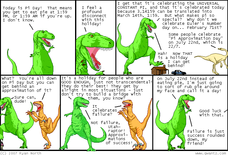 Dinosaur Comics March Th Awesome Fun Times
