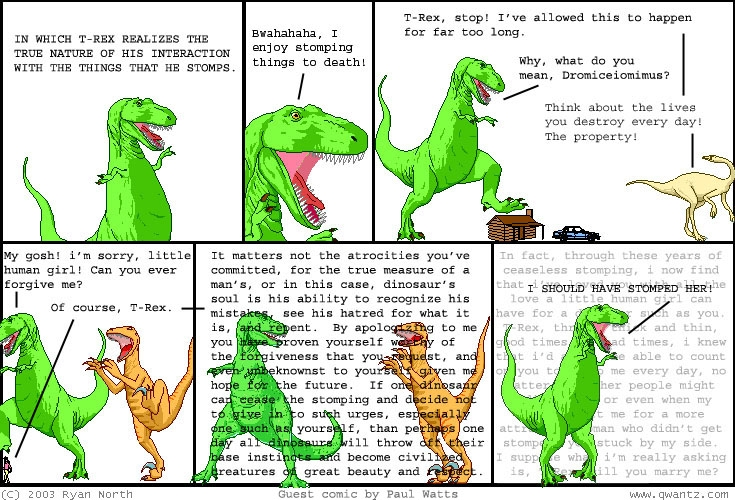 Dinosaur Comics People Are Cool Awesome Fun Times