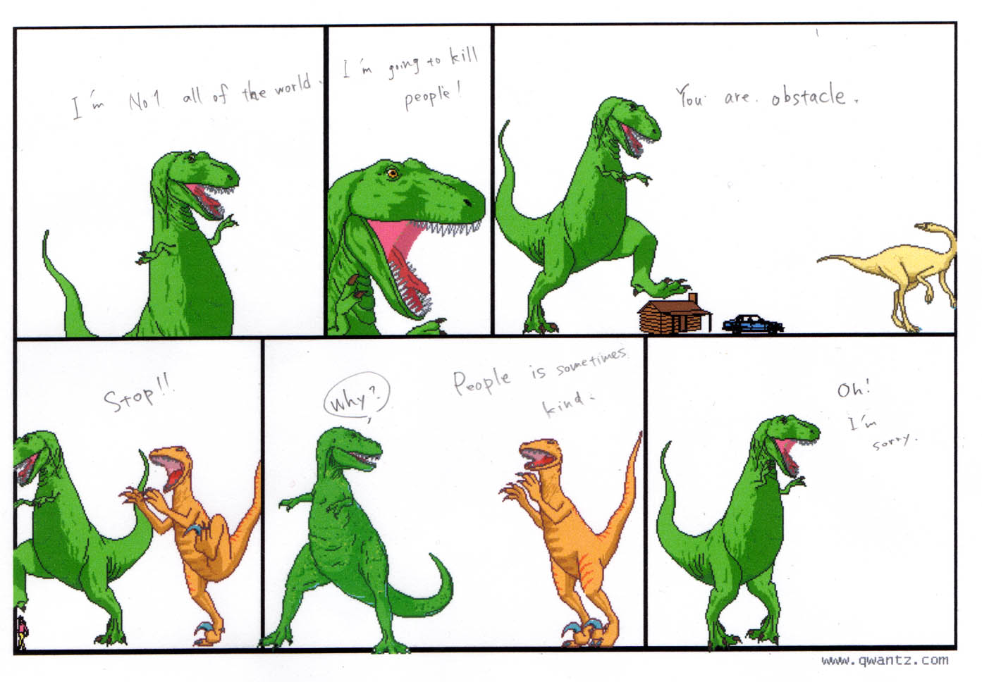 qwantz dating Dinosaur comics is a constrained webcomic by canadian writer ryan north  it is also known as qwantz, after the site's domain name, qwantzcom the first comic was posted on february 1.